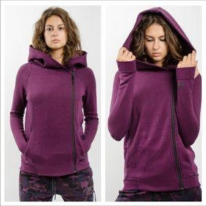 Fleece Plum Hooded Jacket